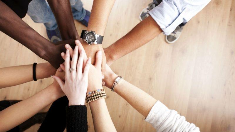 group-having-hands-together